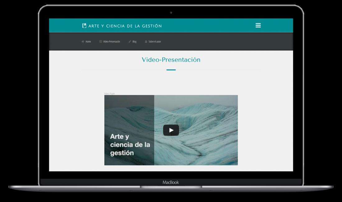 Desarrollo Web - Página Arte y Ciencia de la Gestión